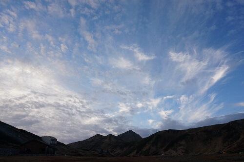 立山の美しい空