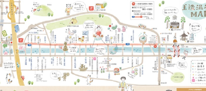 玉造温泉のマップ