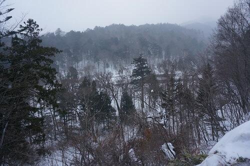 手白澤温泉までの道