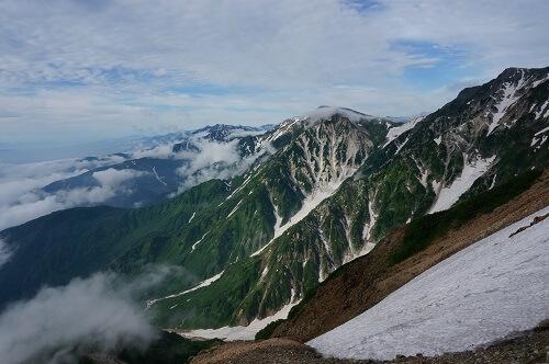 白馬岳の美しい景色