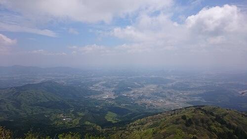 筑波山の女体山からの景色