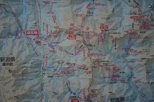 平標山登山口地図
