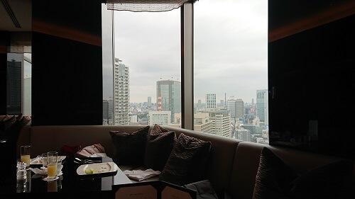 アナインターコンチネンタルホテル東京のラウンジからの景色