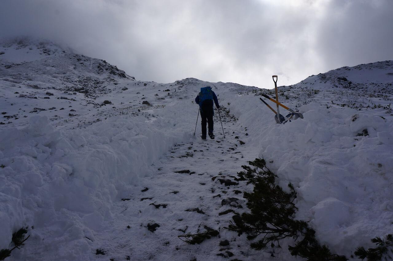 冬の室堂山・展望台