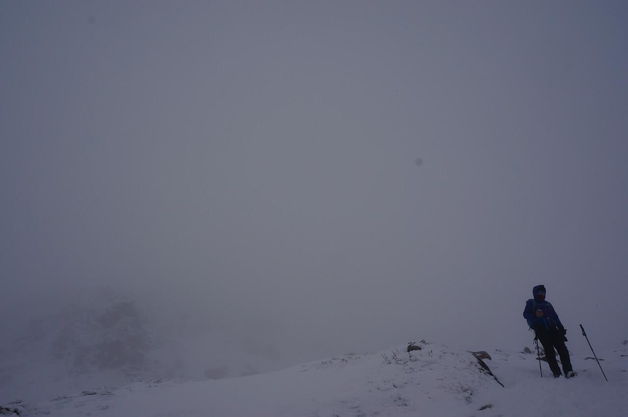 室堂山の冬