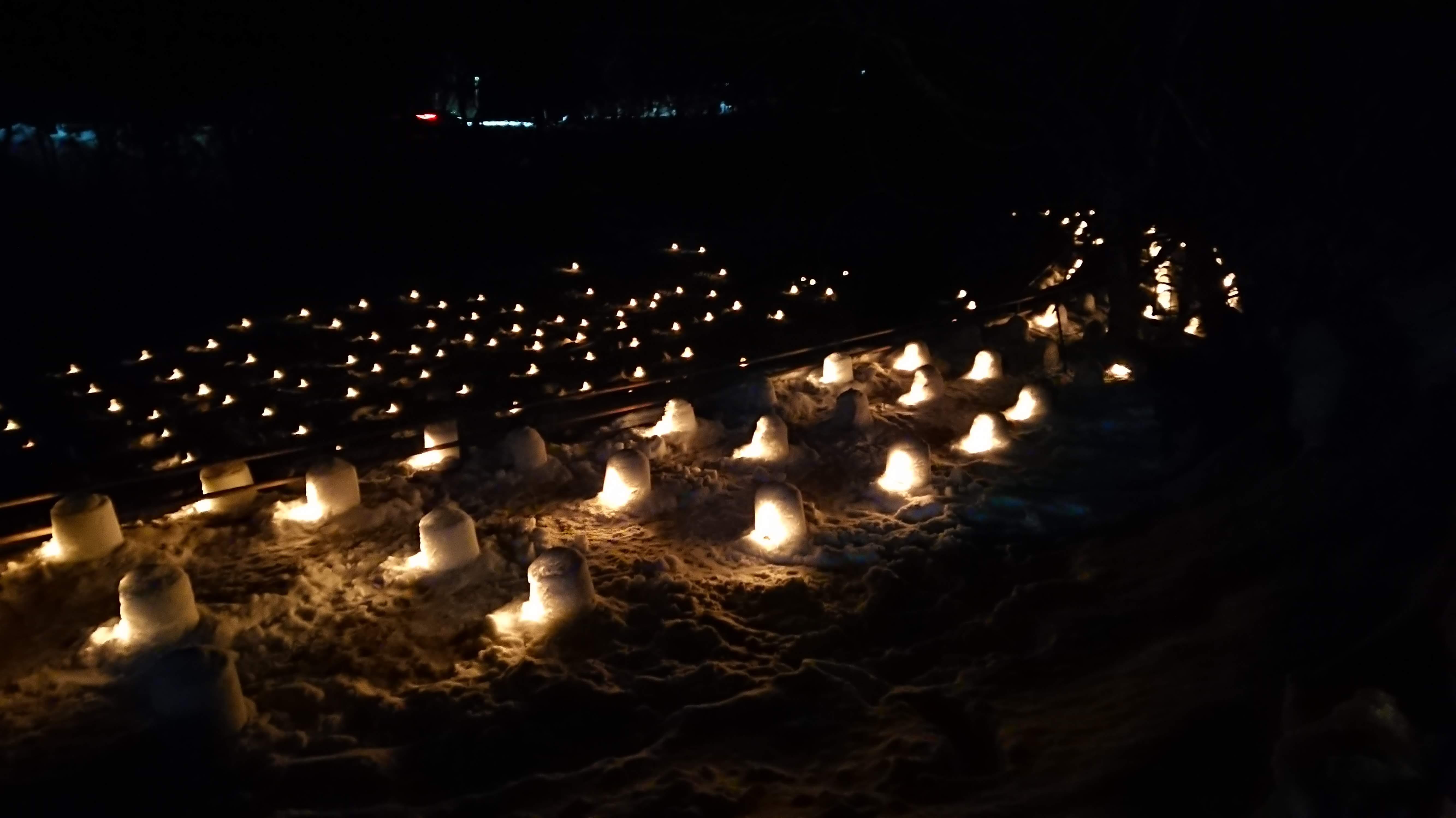 湯西川温泉のかまくら祭会場